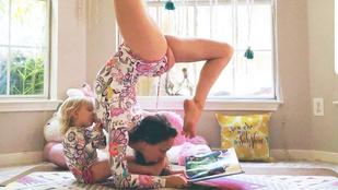 A jógázva szoptató anyuka bővebben is kifejtette, mire jó ez az egész