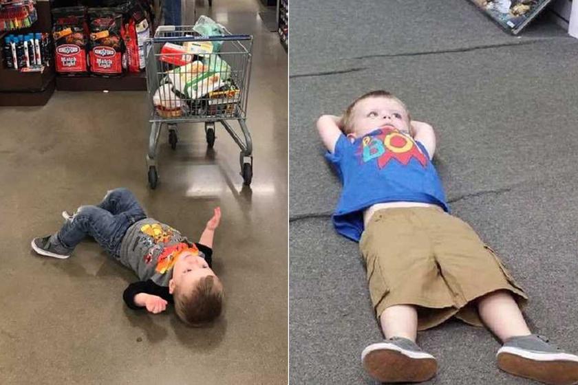 A kétéves kisfú válasza az élet nehézségeire: egyszerű módszerrel fejezi ki a nemtetszését