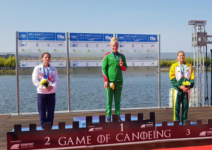 A világbajnoki aranyérmes Bodonyi Dóra