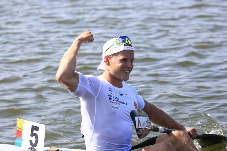 A kajakos Nádas Bence az 500 méteren szerzett vb-bronz után