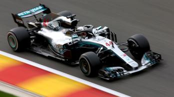 Hamiltoné a belga pole a spái esőkáosz után