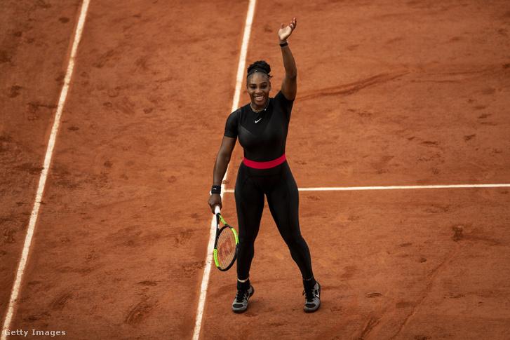 Serena Williams az idei Roland Garros harmadik fordulójában aratott győzelme után.