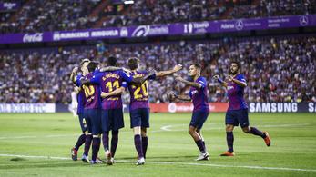 Gyötrelmes meccsen verte a Valladolidot a Barca