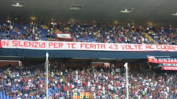 Negyvenhárom percig némán nézték a Genoa–Empoli meccset