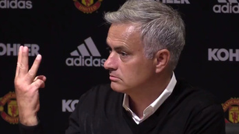 Mourinhóval a 0-3-as zakó után is elszaladt a ló, otthagyta a sajtótájékoztatót