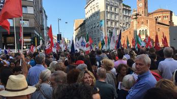 Milánóban tüntettek Orbán és Salvini találkozója ellen