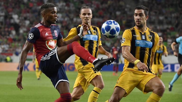 AEK Athén-Mol Vidi FC 1-1, félidőben: