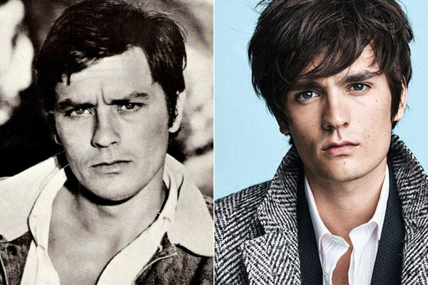 Alain-Fabien Delon le se tagadhatná az apját, szinte már hihetetlen, hogy mennyire hasonlít fiatalkori énjére.