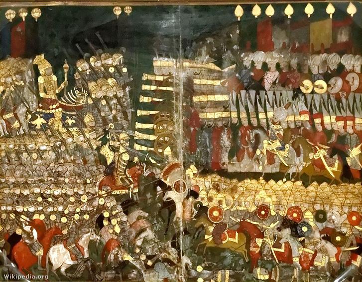 A mohácsi csata egy 16. századi török miniatúrán