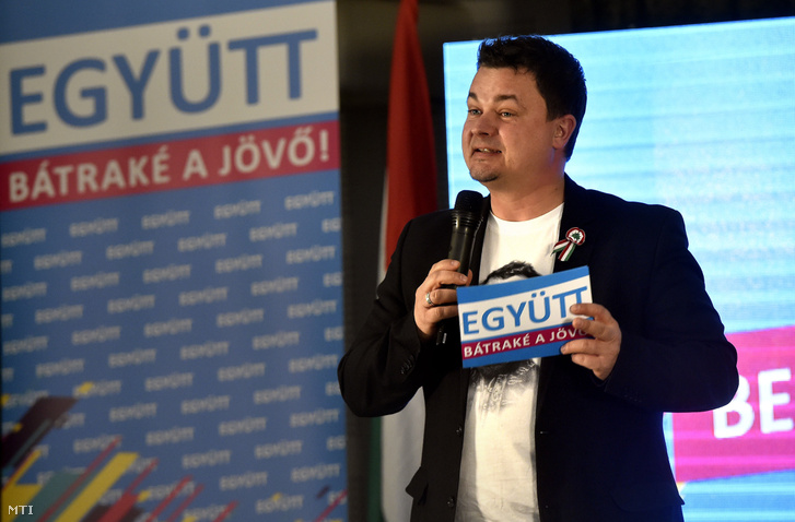 Berkecz Balázs országgyűlési képviselőjelölt az Együtt megemlékezésén a fővárosi H13 Rendezvényközpontban a március 15-i nemzeti ünnep előestéjén, 2018. március 14-én.