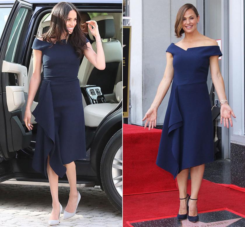 Jennifer Garner nemrég kapta meg a csillagát a Hollywoodi Hírességek sétányán. A nagy alkalomra olyan ruhába bújt, amilyet előtte Meghanon már láthattunk.
