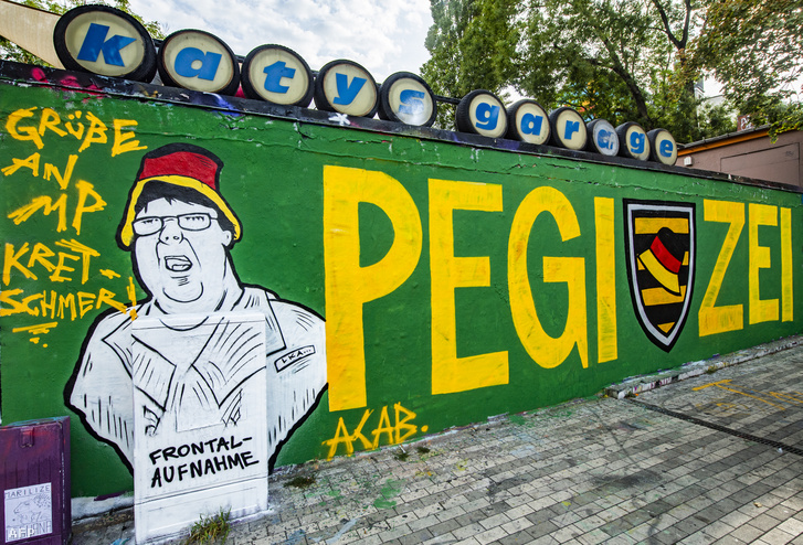 A Pediga graffitije Drezdában