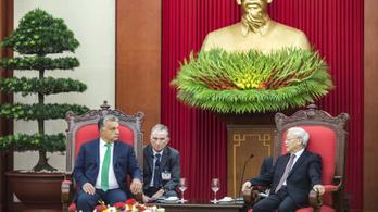 A vietnami kommunista vezérrel találkozik Orbán
