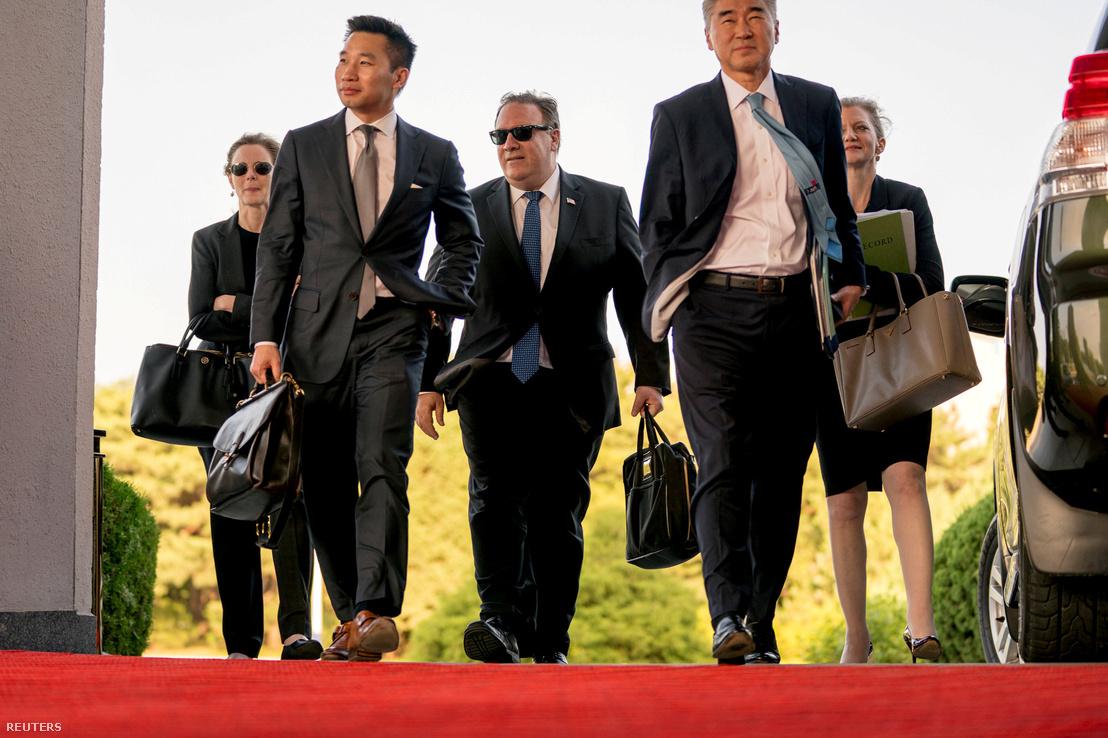 Pompeo Észak-Koreában 2018. július 6-án
