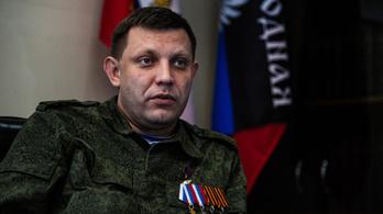 Egy kávéházi robbantásban meghalt a kelet-ukrajnai szeparatisták vezetője