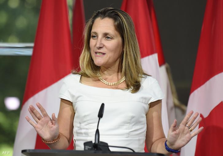 Chrystia Freeland kanadai külügyminiszter