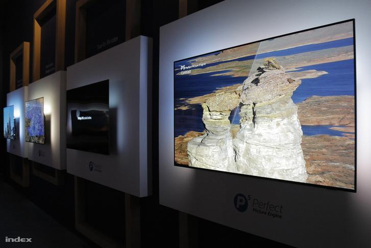 Szimulálják a Philips P5 csip nélküli tévék képminősőgét. Azért ha nem így látja az ember, nem annyira feltűnő, hogy jobb is lehetne a tévéjének a képe