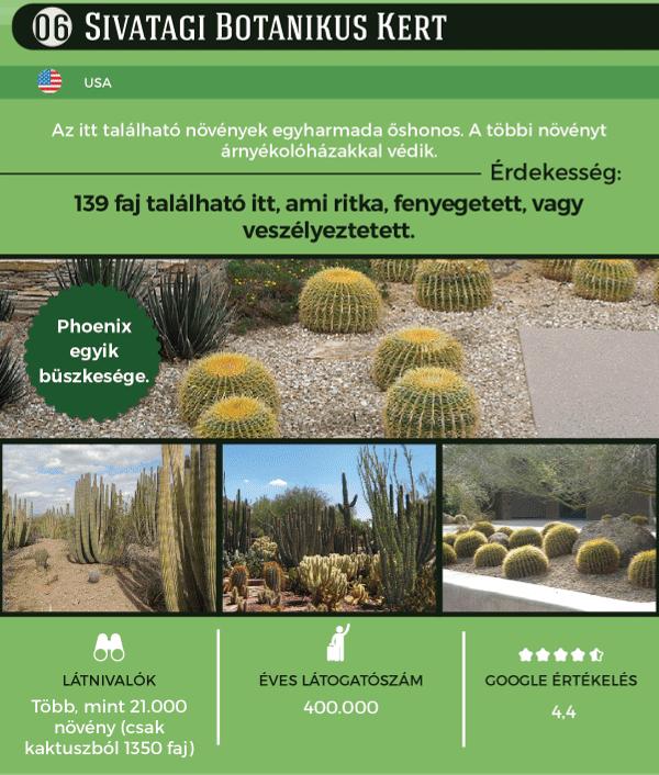 Nehéz elhinni, hogy Az USA Sivatagos Botanikus Kertjében is akad látnivaló, pedig 21 ezer növény található itt, aminek egyharmada őshonos