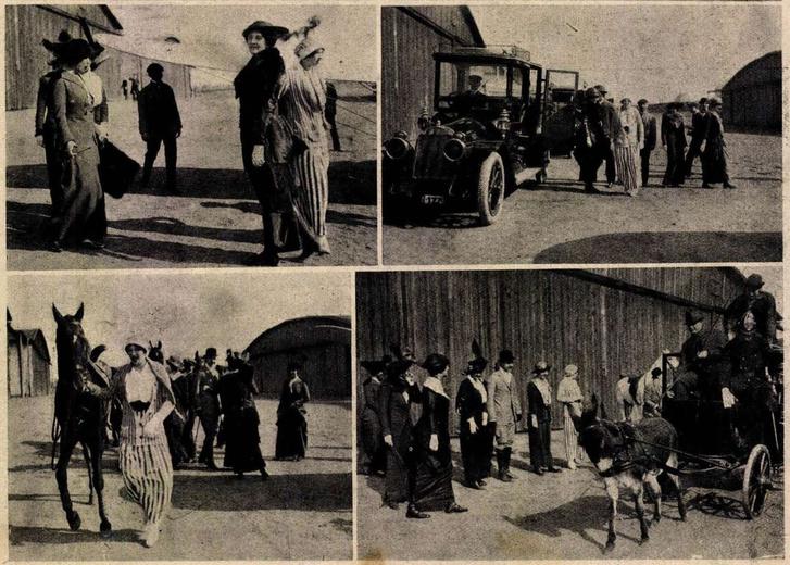 Kino-Riport A háromszáz éves ember forgatásáról, Forrás: Az érdekes újság, 1914.04.19. 16. szám / Arcanum adatbázisa