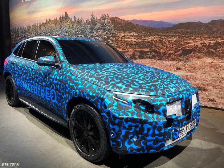 EQC az első teljesen elektromos Mercedes autó bemutatója Stockholmban 2018.09.04.