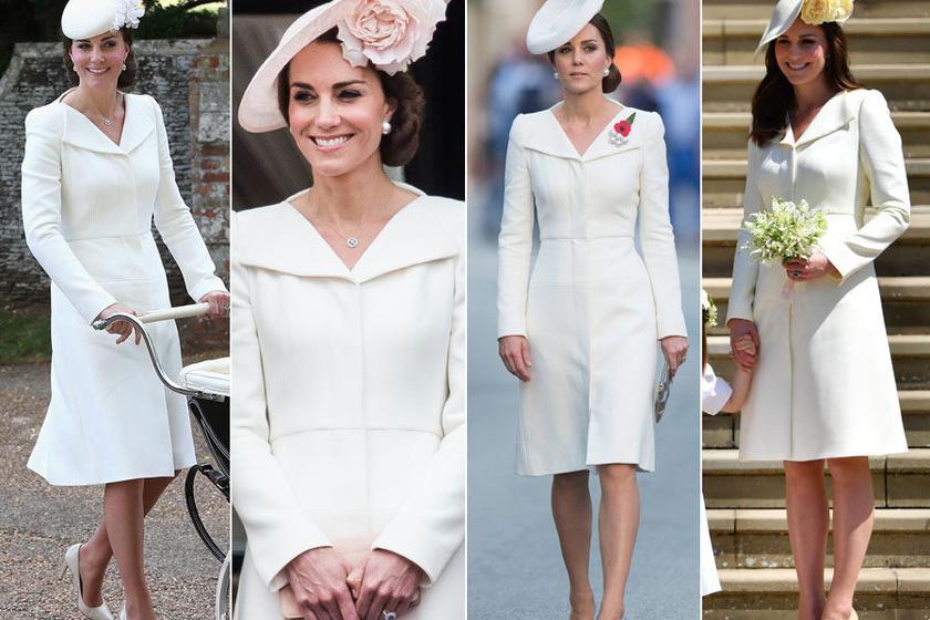Katalin hercegné egyik kedvence ez az Alexander McQueen-kabátruha, több alkalommal is láthattuk már benne.
