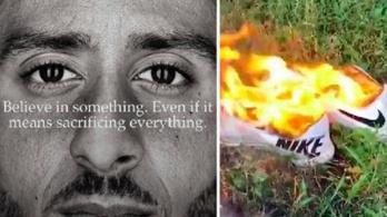 Égetéssel tiltakoznak a Nike ellen, amiért reklámarcot csinált Kaepernickből