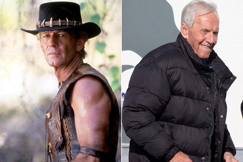 Paul Hogan 1986-ban és 2018-ban.