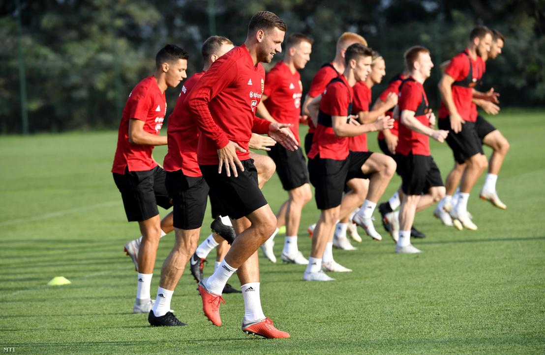 A Nemzetek Ligájában 2018. szeptember 8-án Finnország ellen játszó magyar labdarúgó-válogatott edzése a Magyar Labdarúgó Szövetség (MLSZ) telki edzőközpontjában szeptember 3-án.