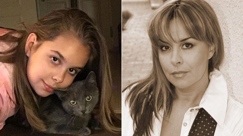 Rozina friss fotója - egyre jobban hasonlít az édesanyjára, főleg, ha Szulák Andrea egy régebbi fotóját tesszük mellé.