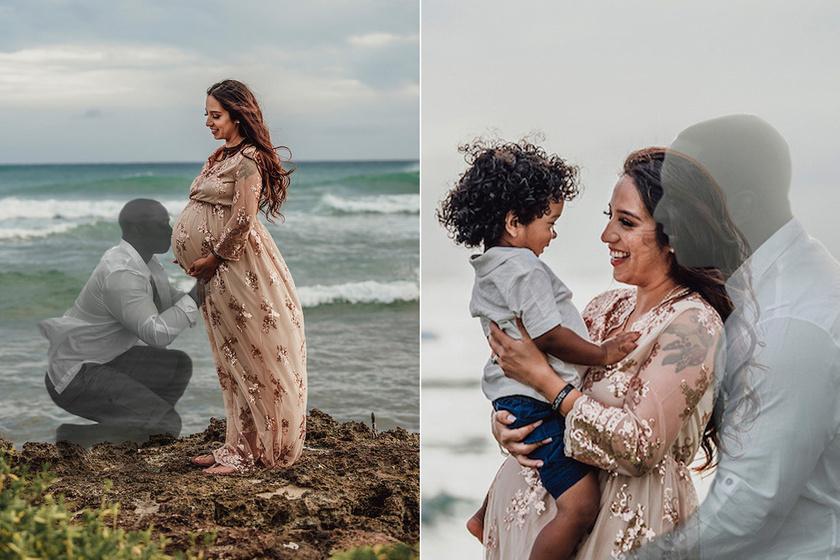 Második babájukkal volt terhes, amikor meghalt a férje - Szívszorító fotókat készített