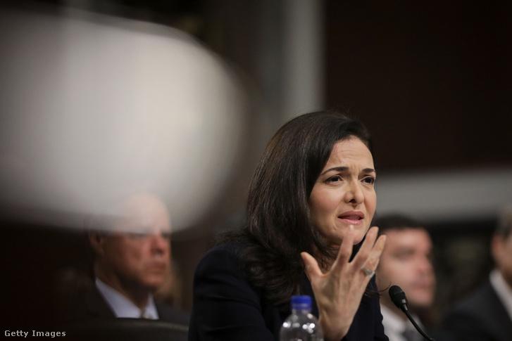 Sheryl Sandberg szenátusi hírszerző bizottság meghallgatásán, Capitol Hill, Washington 2018.09.05.