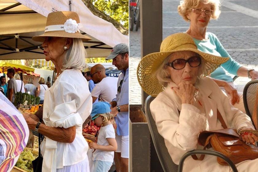 A fehér szín könnyedséget, eleganciát kölcsönöz a megjelenésnek, ráadásul fiatalabbnak is mutat - és ezt ők is jól tudják. Kedvelik a derekat hangsúlyozó, ropogós anyagú felsőket, melyeket kalappal tesznek még nőiesebbé.