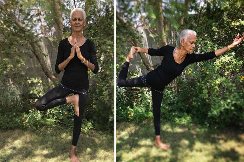 76 éves, de egy harmincas is megirigyelné a testét: jógát oktat az idős nő