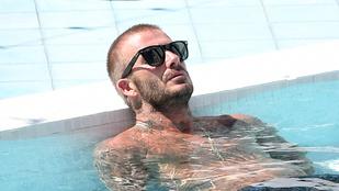 David Beckham aztán tudja hogy kell ünnepelni, ha a csapata nevet és címert kap