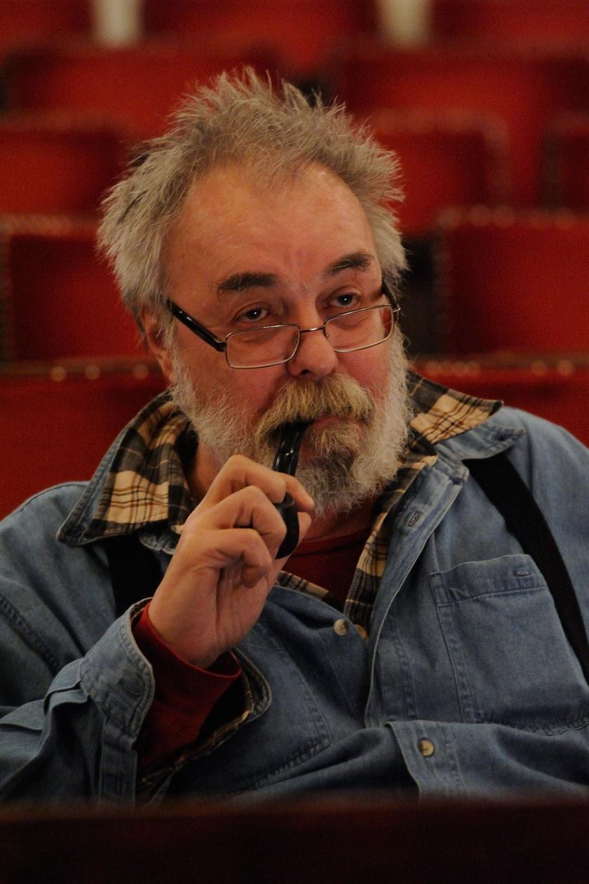 Ádám Tamás rendező Csukás István és Darvas Ferenc Ágacska című mesejátékának próbáján a Szegedi Nemzeti Színházban 2014-ben.