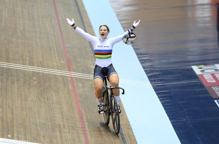 Kristina Vogel egy győztes verseny után
