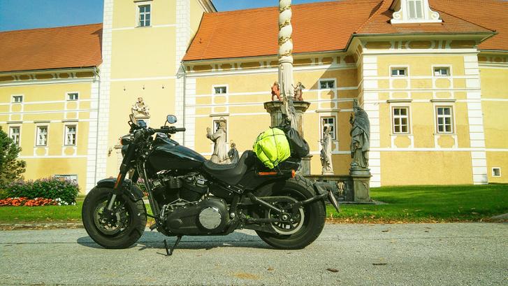 Vorau vára előtt, már Erdingből hazafelé