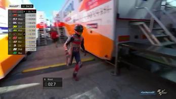 Márquez nagyot sprintelt a garázsba bukása után