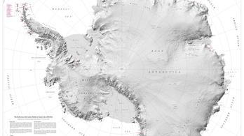 Az Antarktisz térképe lett a legrészletesebb
