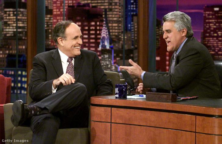 Giuliani Jay Lenoval a The Tonight Showban 2002. január 16.