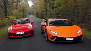 A Porsche kaphatja meg a Lamborghinit