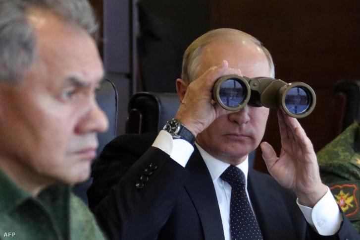 Vlagyimir Putyin egy 2017-es hadgyakorlaton