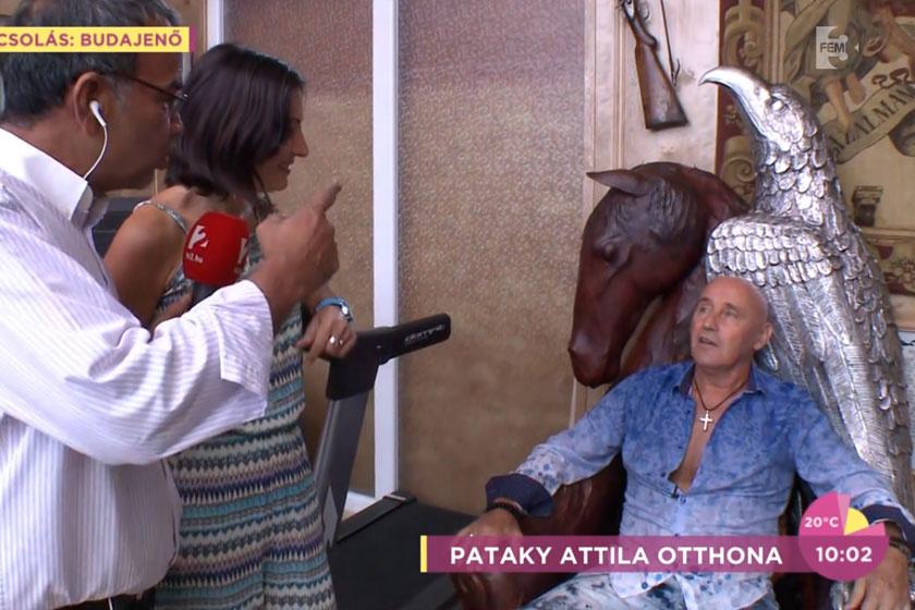 Pataky Attila otthona bemutatásakor természetesen azt a bőrfotelt is megmutatta, melyben rendszeresen meditál. Állítása szerint ezen a ponton a legjobbak az energiák.