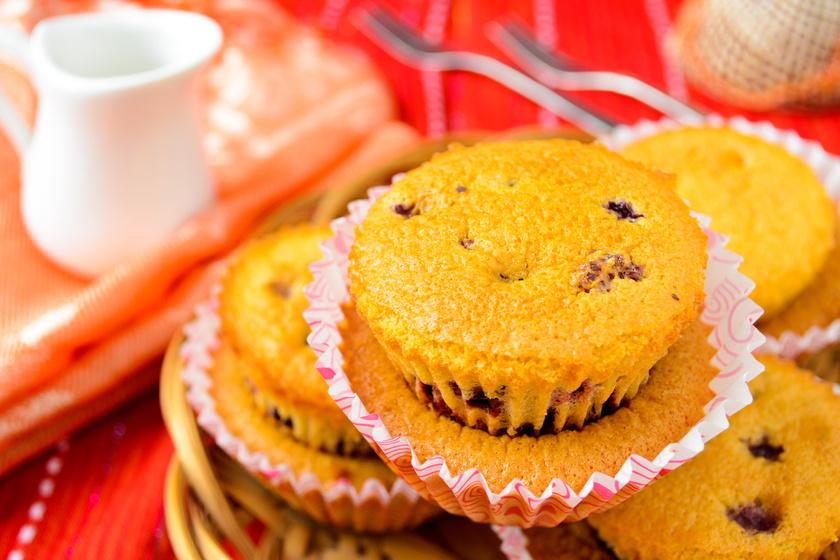 Liszt- és cukormentes, narancsos muffin ribizlivel: isteni, diétás, újévi desszert