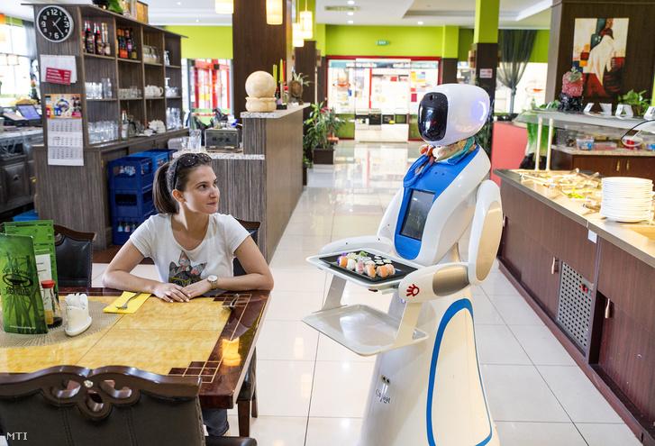 Robotpincér a győri Liu's Cooking kínai étteremben 2018. szeptember 11-én.