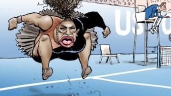 Serena Williams karikatúrája miatt áll a bál az interneten
