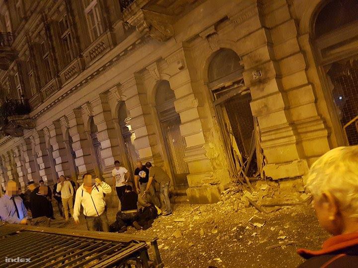 A helyszín a robbantás után