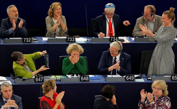 Judith Sargentini a szavazás után