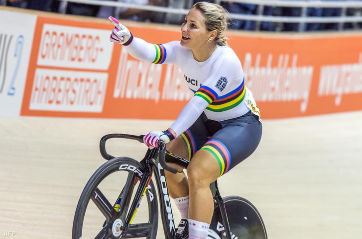 Kristina Vogel 2017-ben győzelmet ünnepel