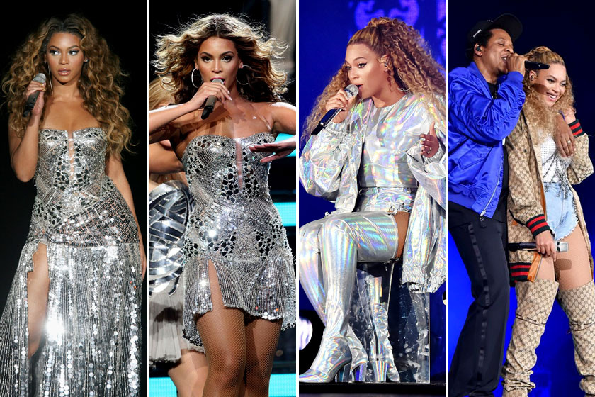 Beyoncé 2007-es és 2018-as világ körüli turnéján.